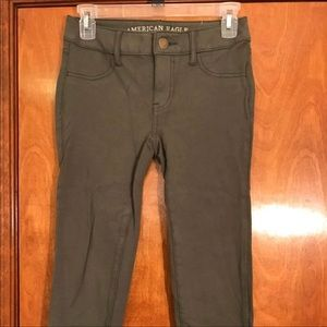 American Eagle arm green jeggings size 0